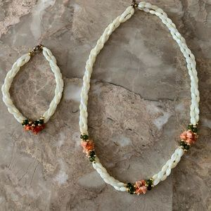 Freshwater pearl double strand necklace/bracelet